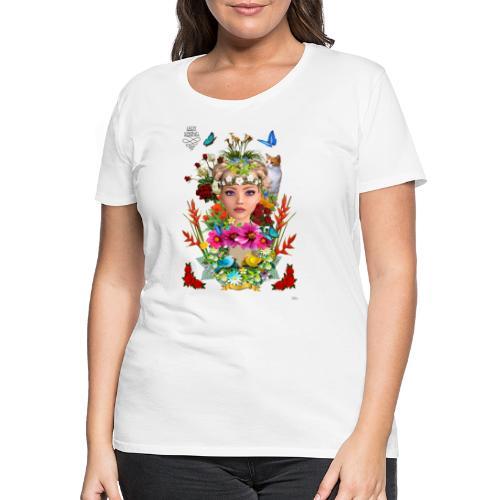Lady spring - By t-shirt chic et choc - T-shirt Premium Femme