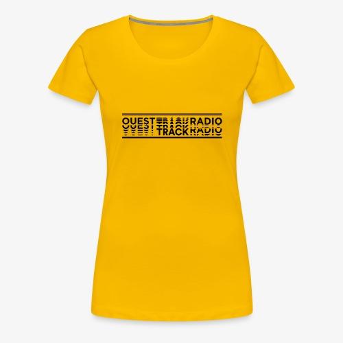 Logo Long noir - T-shirt Premium Femme