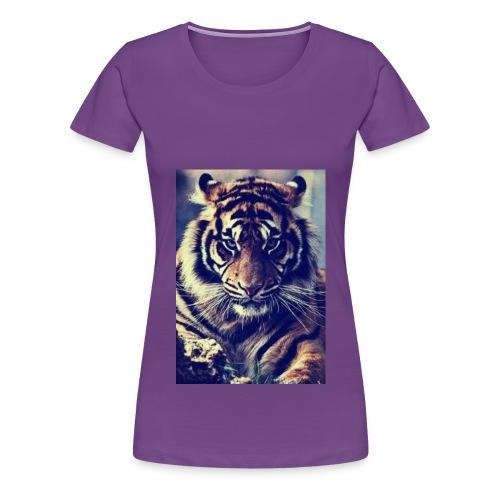 TijgerSerieus jpg - Vrouwen Premium T-shirt