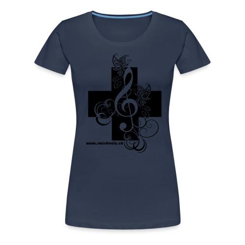 Swiss Beatz Logo non L - Frauen Premium T-Shirt
