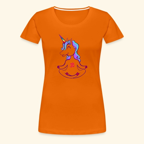 buddhistisches Meditation Einhorn T-Shirt - Frauen Premium T-Shirt