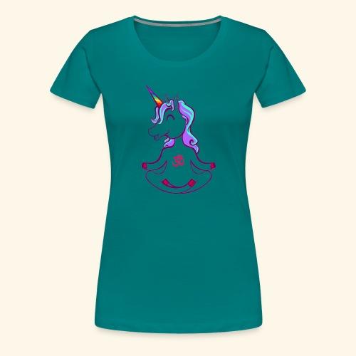 buddhistisches Meditation Einhorn T-Shirt - Frauen Premium T-Shirt