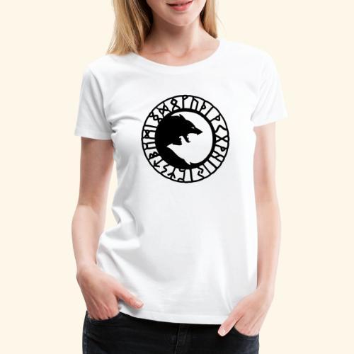 loup_runes_flocage - T-shirt Premium Femme