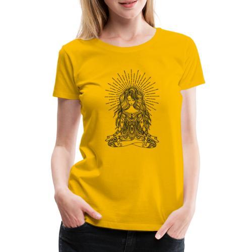 Yogagirl Boho Style Hippie in tiefer Meditation - Frauen Premium T-Shirt