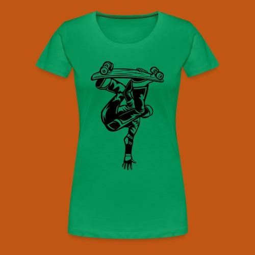 Skater / Skateboarder 03_schwarz - Frauen Premium T-Shirt