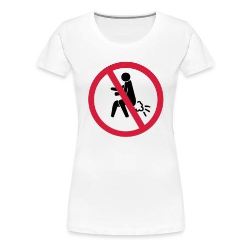 NO Farting Sign - Women's Premium T-Shirt