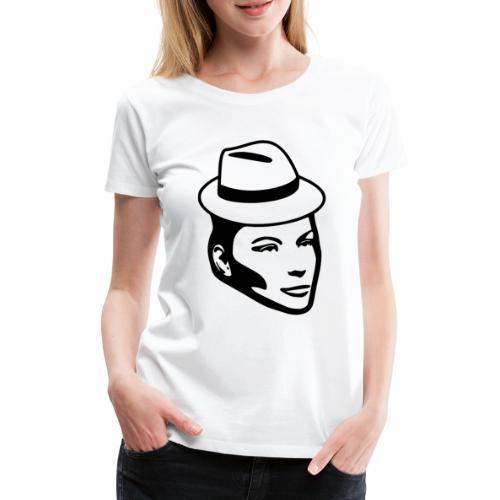 Frau mit Hut - Frauen Premium T-Shirt
