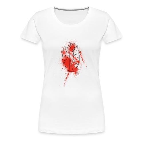 Geometria cuore schizzo sangue - Maglietta Premium da donna