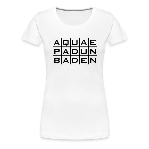 Aquae Padun Baden Invers - Frauen Premium T-Shirt