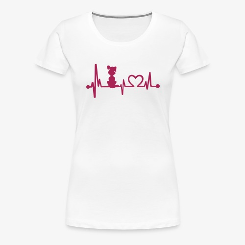 dog heart beat - Frauen Premium T-Shirt