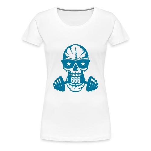 haltere musculation tete mort bodybuildi - T-shirt Premium Femme