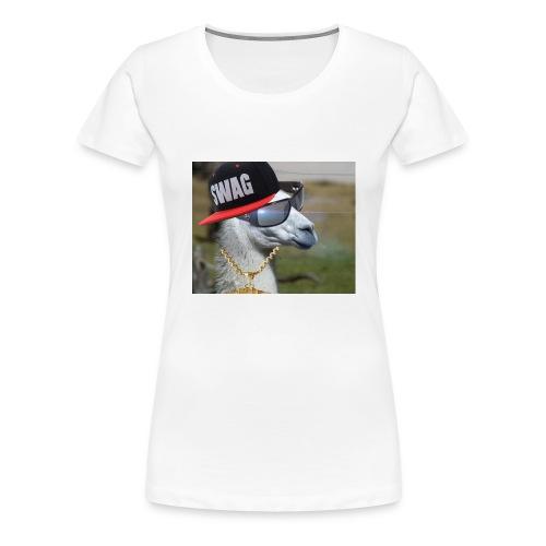 Suomen komein laama - Naisten premium t-paita