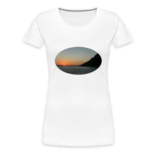 midnattsol 7650a png - Premium T-skjorte for kvinner