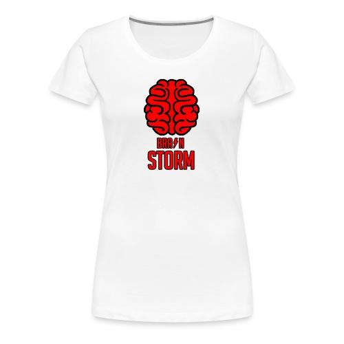 BrainStorm Logo Blank png - Women's Premium T-Shirt