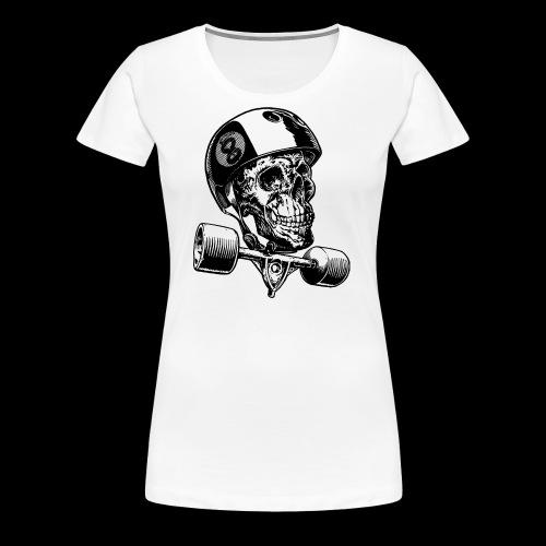 Skull Longboard Rider - positive print - T-shirt Premium Femme