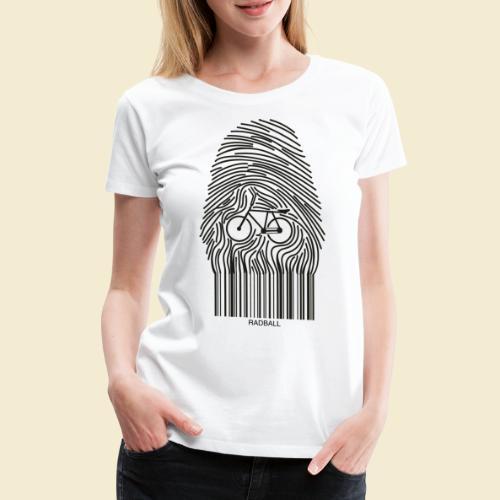 Radball   Fingerprint - Frauen Premium T-Shirt