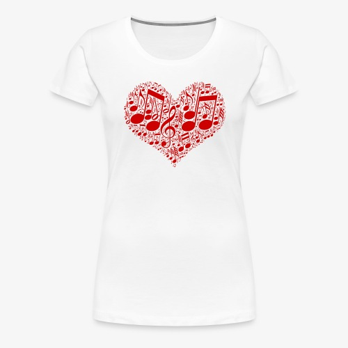 Musik Noten im Herz | Musikliebhaber Geschenkidee - Frauen Premium T-Shirt