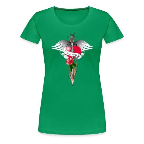 L' Amour - Die Liebe in Flammen - Frauen Premium T-Shirt