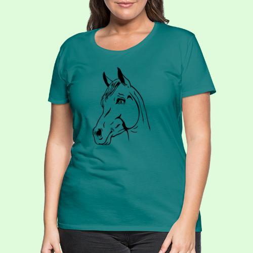 tête de cheval - T-shirt Premium Femme