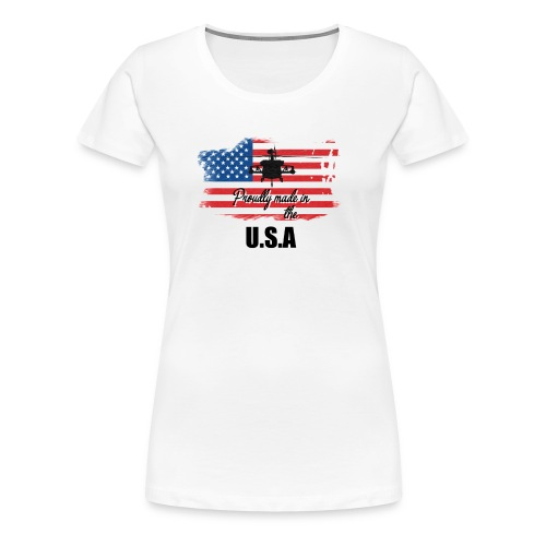 Proud American T-Shirt by Louittor - Frauen Premium T-Shirt