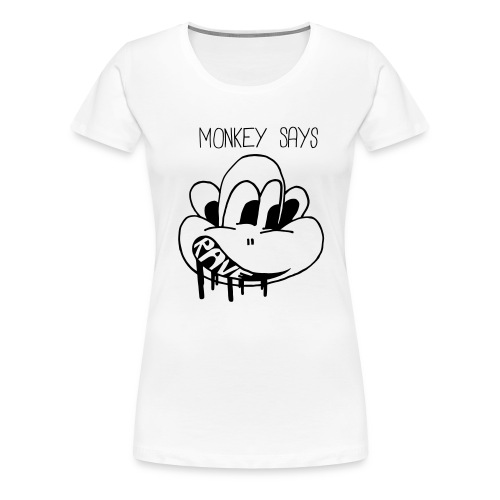 Monkey Says Rave - Women's Premium T-Shirt