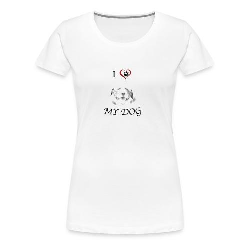 Cane_Po_2-gif - Maglietta Premium da donna