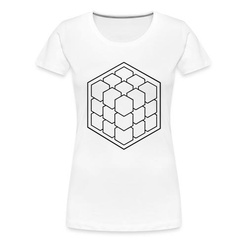 Cubik Monochrome - T-shirt Premium Femme