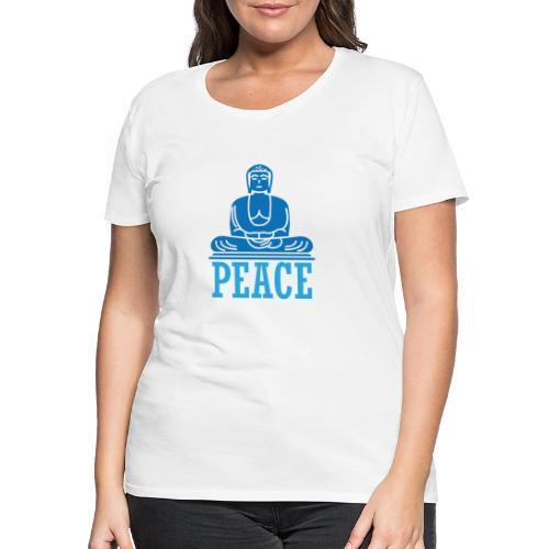 Buddha Meditating. - Women's Premium T-Shirt
