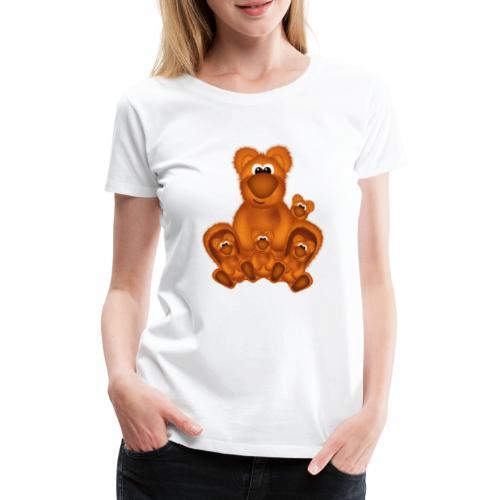 Bärige Mutterliebe - Frauen Premium T-Shirt
