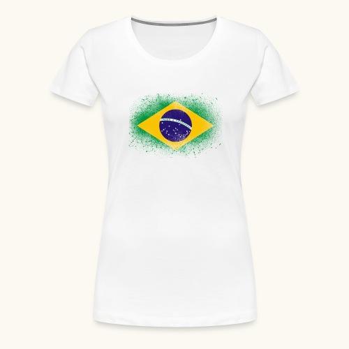 Drapeau brésilien cadeau du Brésil - T-shirt Premium Femme