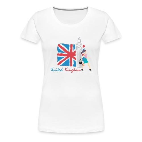 Funny United Kingdom Shopping Shirt - Women's Premium T-Shirt