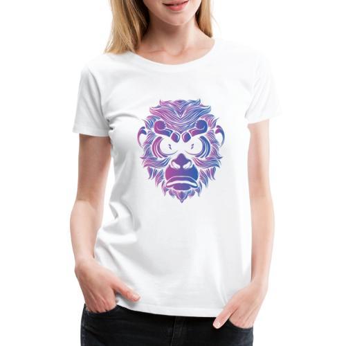 Affe Gorilla Gesicht - Frauen Premium T-Shirt