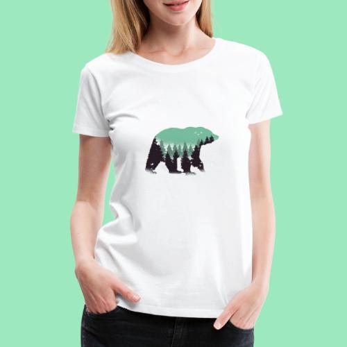 Forest bear - Vrouwen Premium T-shirt