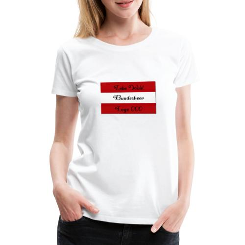 Bundesheer lage 000 - Frauen Premium T-Shirt
