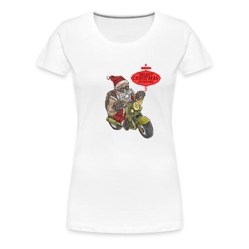 Santa Claus wishes you a Merry Christmas - T-shirt Premium Femme