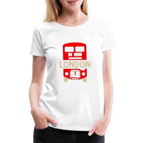 London Bus Roter Doppeldecker London Fan Souvenir - Frauen Premium T-Shirt