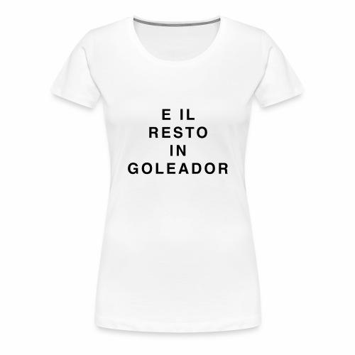 Goleador (Black) - Maglietta Premium da donna
