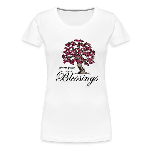 Sany O. Jesus T Shirt Blessings Segen Lebensbaum - Frauen Premium T-Shirt