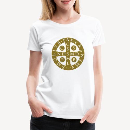 BENEDICTINE MEDAL - Women's Premium T-Shirt