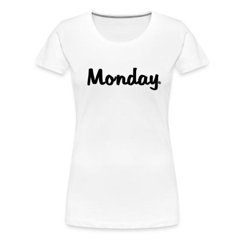 Transparenter Monday Schriftzug 2 png - Frauen Premium T-Shirt