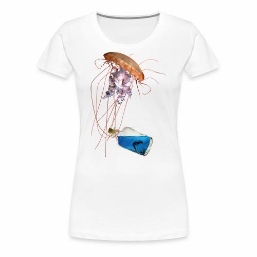 Woman in a bottle - Frauen Premium T-Shirt