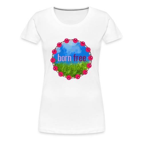 bornfree - Premium-T-shirt dam
