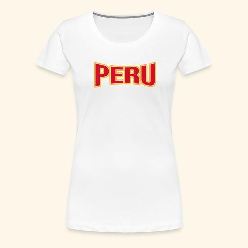 Peru - Fanartikel - Sportfans T-shirt - Frauen Premium T-Shirt