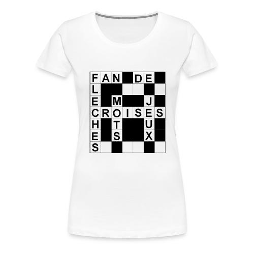 Fan de mots croisés - T-shirt Premium Femme