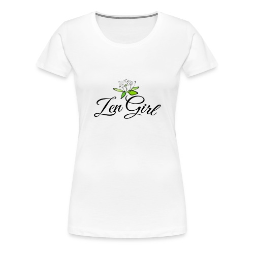 Zen Girl -Lotus Blomma - Prima Vera Design - Premium-T-shirt dam
