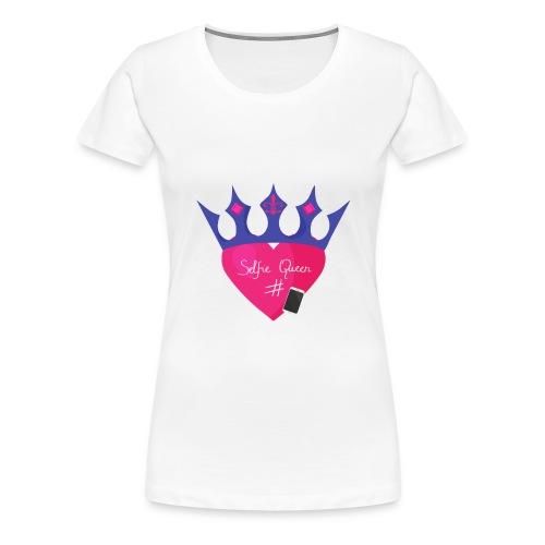 Humor Crown for real social media queens. - Women's Premium T-Shirt