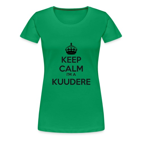 Kuudere keep calm - Women's Premium T-Shirt