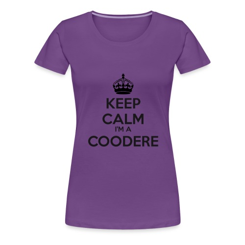 Coodere keep calm - Women's Premium T-Shirt