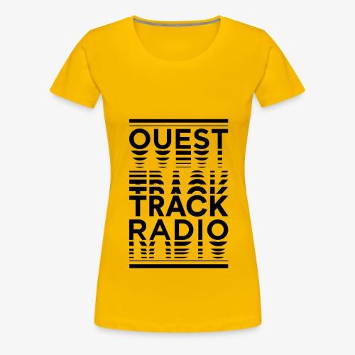 Logo Vertical Grand Noir - T-shirt Premium Femme