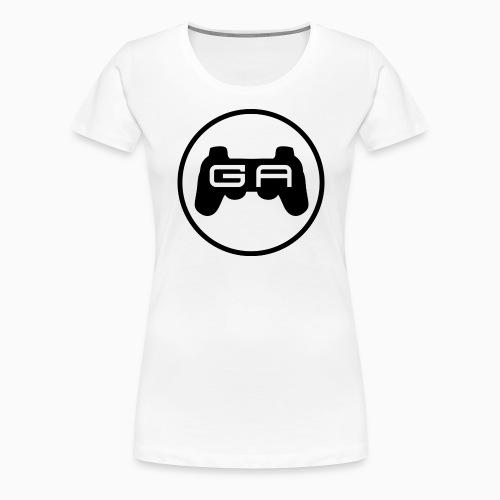 Sort på Hvidt - Dame premium T-shirt